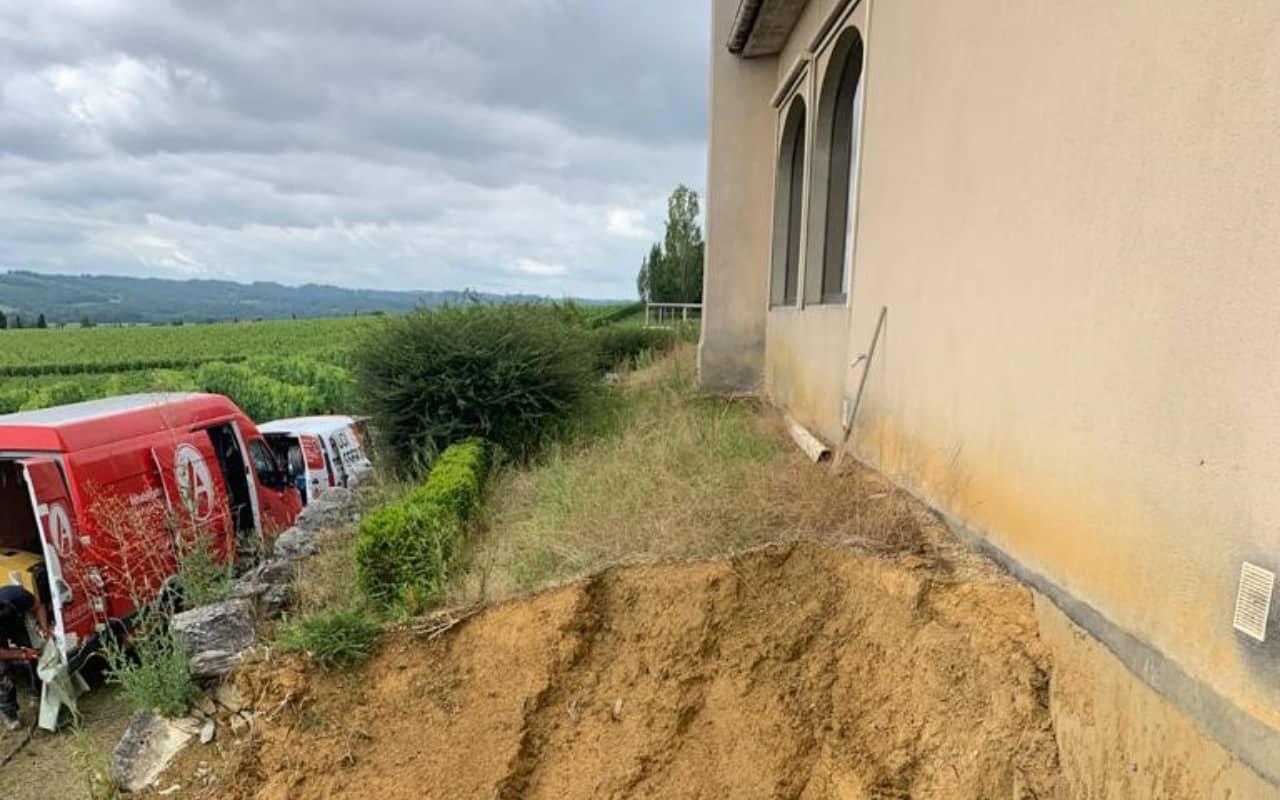 Réhabilitation d'une canalisation enterrée au château Laffite Teston - 4