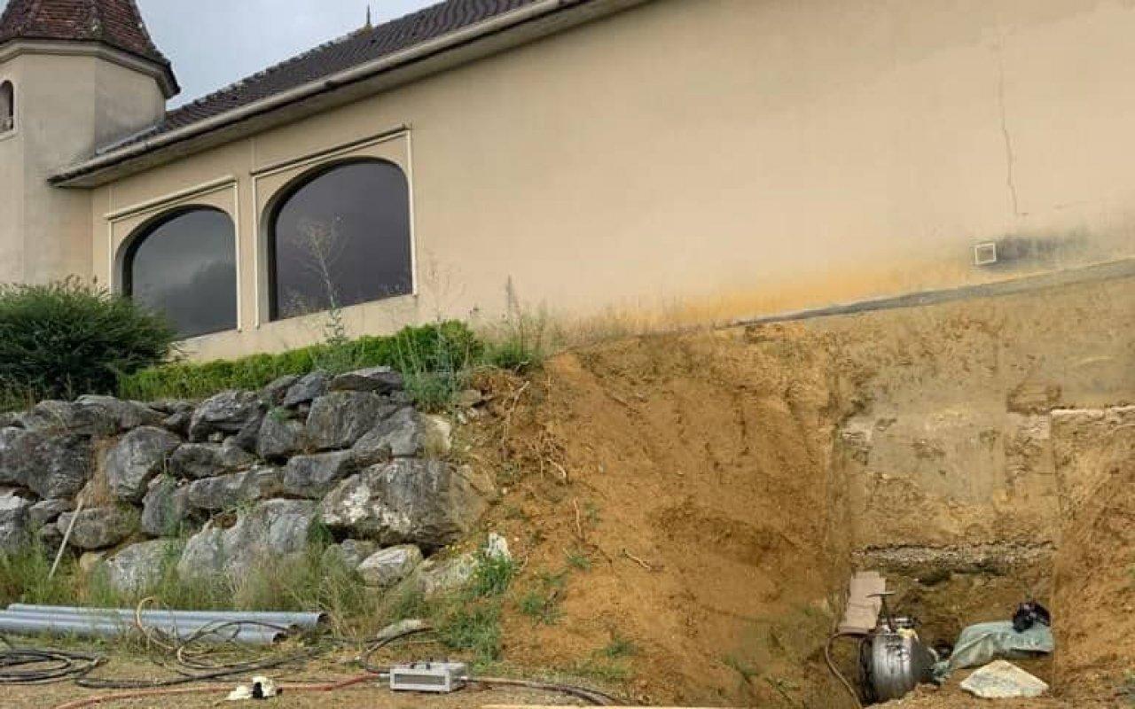 Réhabilitation d'une canalisation enterrée au château Laffite Teston - 2