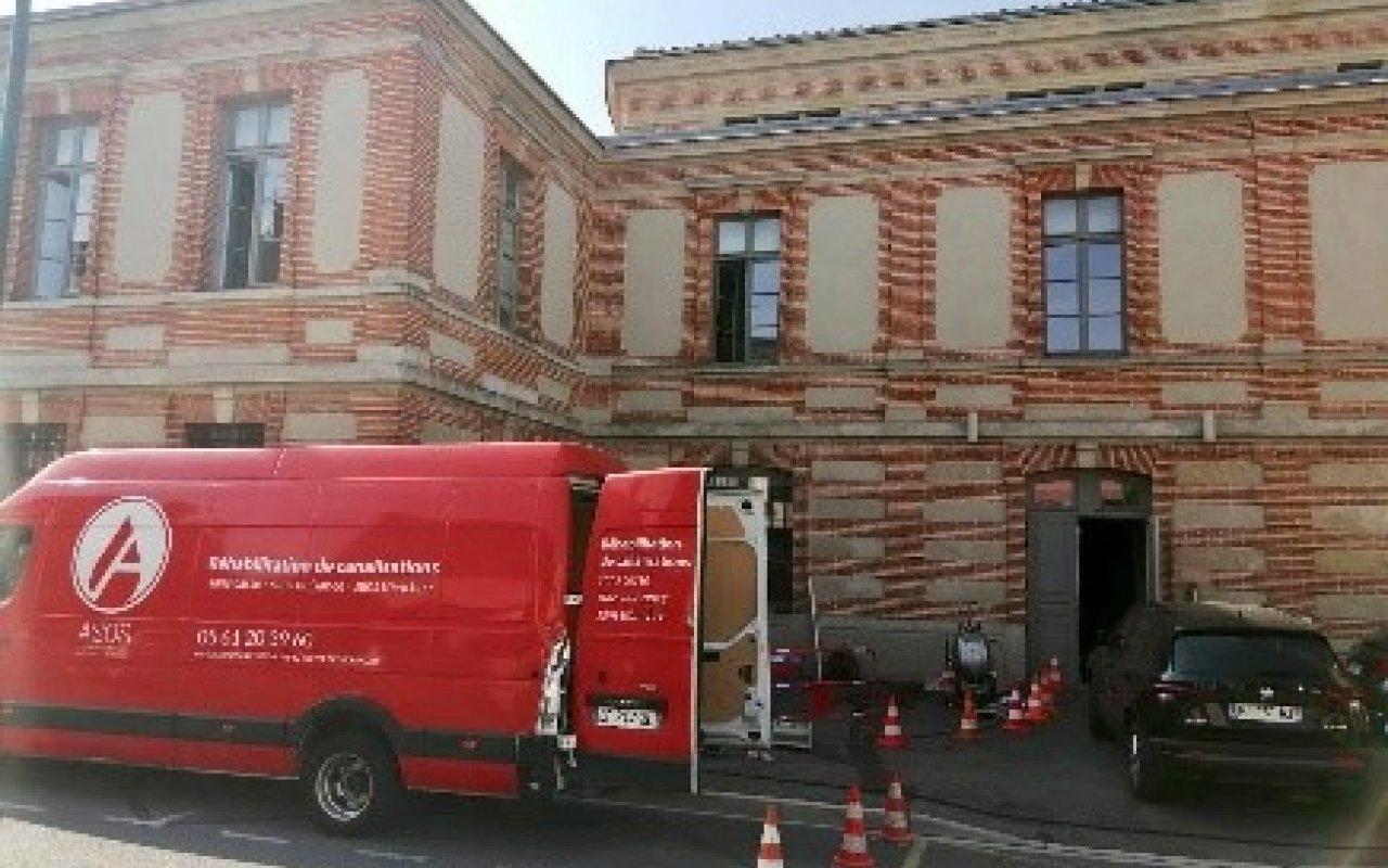 Réalisation d'une descente d'eau pluviale à la mairie de Lavaur - 3