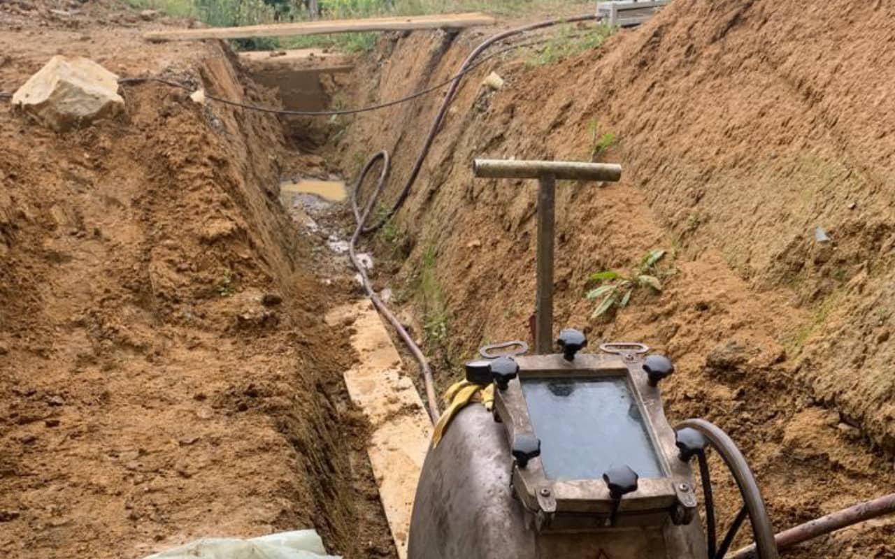 Réhabilitation d'une canalisation enterrée au château Laffite Teston - 5