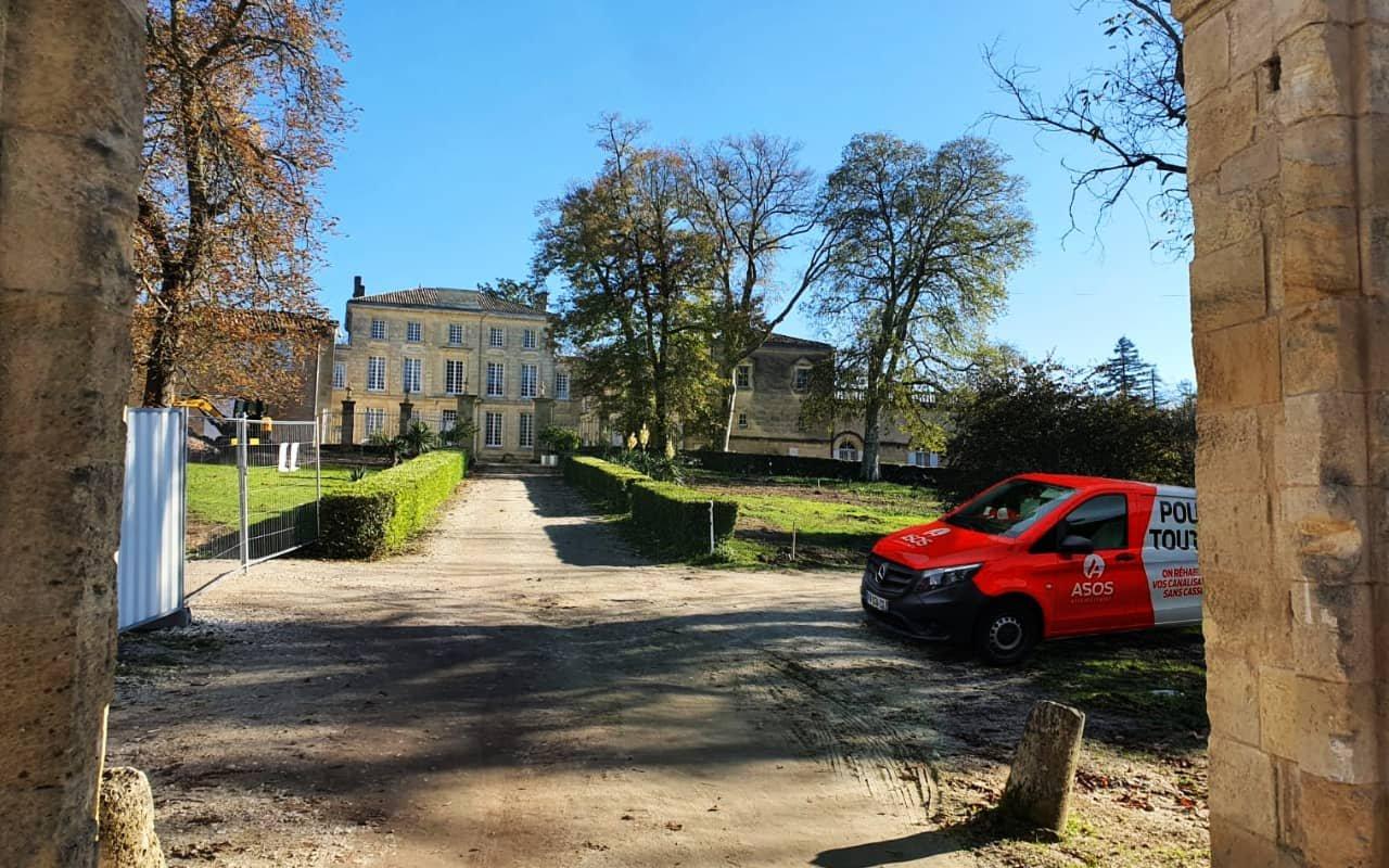 Réhabilitation de 162ml de canalisation dans les Chais du Château-Figeac