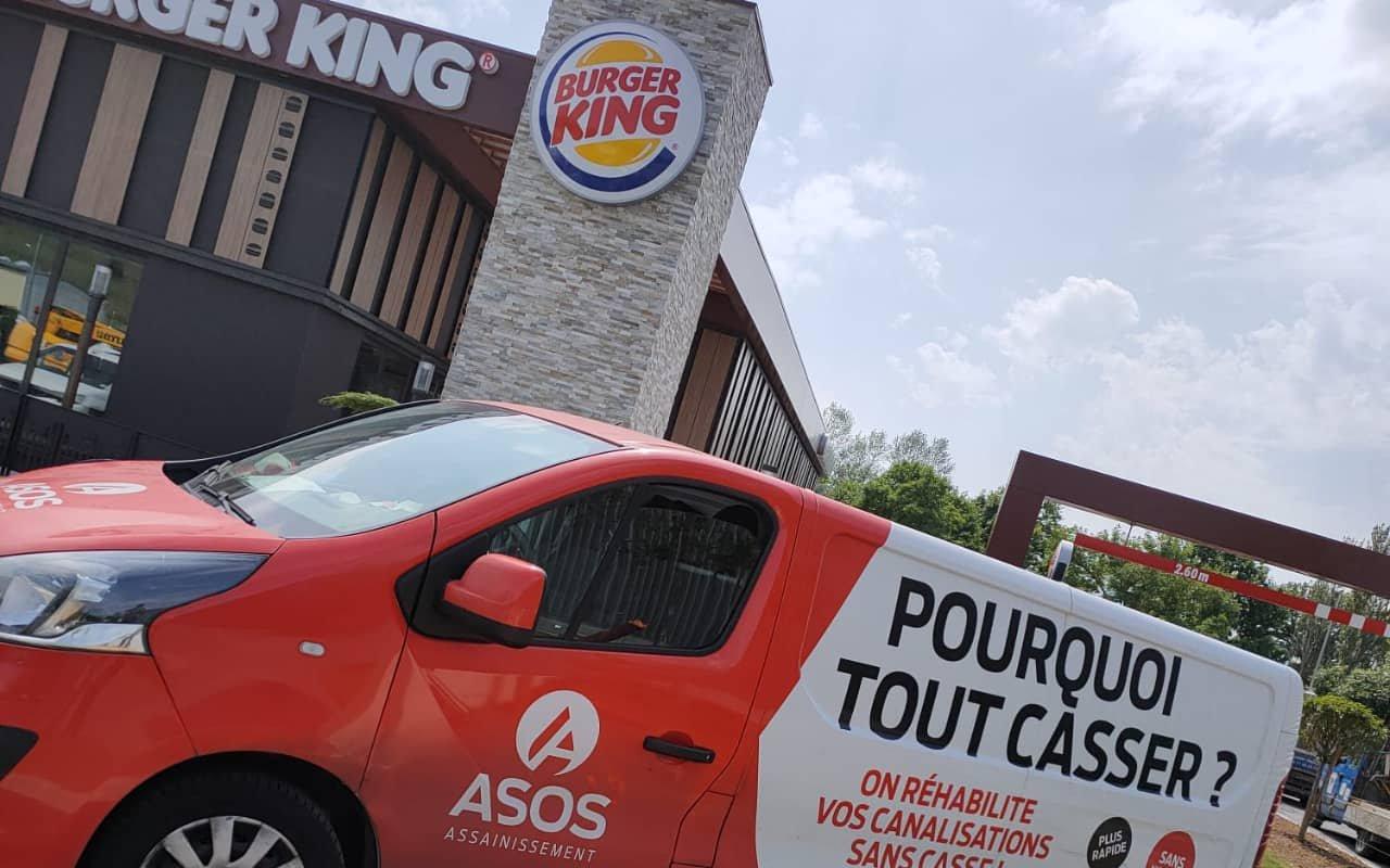 Inspection vidéo par caméra des canalisation du Burger King d'Aurillac